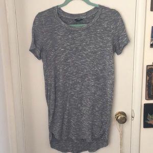Gray tunic top